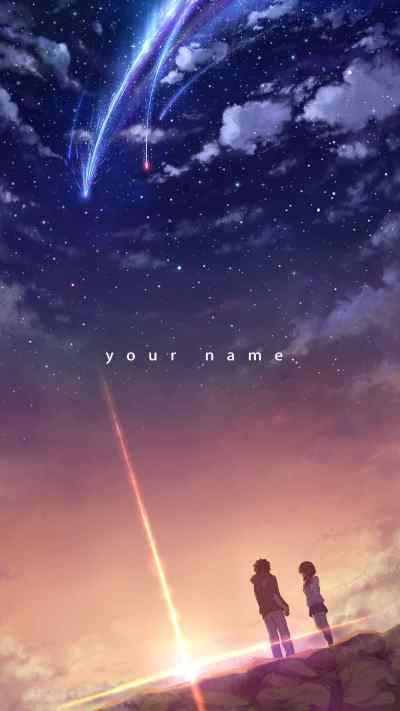 你的名字!唯美动漫背景 - 手机壁纸 - 桌面天下(Desktx.com)