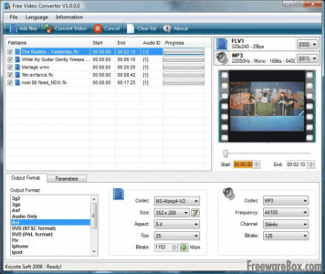 Convertir videos Gratis Koyote Free Video Converter