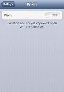 Wifi iPhone Gris