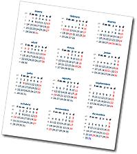 Calendario 2014 de Argentina con días feriados