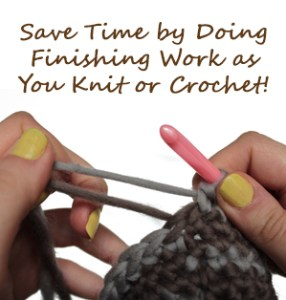 Save Time by Doing Finishing Work as You Knit or Crochet 286x300 Save Time by Doing Finishing Work as You Knit or Crochet! {diy}