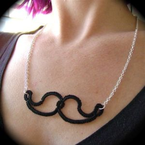 Tatted Mustache Necklace {diy}