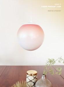 Pretty Ombre Pendant Lights {diy}