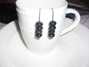 Bronze and Black Drop Earrings