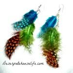 Feather Shoulder Duster Earrings