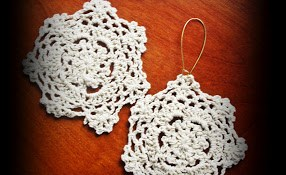 Mini Doily Earrings