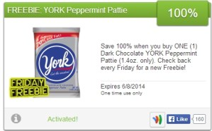 Get a Free York Peppermint Pattie! {Friday Freebie}