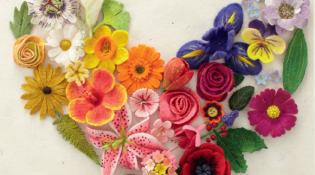 Felting Fabulous Flowers: 30 Stunning Designs  {book review}