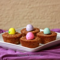 Gooey Easter Brownie Cups
