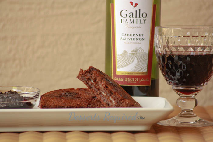 Desserts Required - Grilled Mascarpone on Chocolate Cherry Bread with Blackberry Cabernet Compote