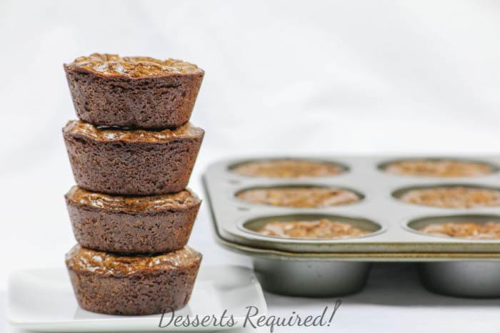 Desserts Required - gooey autumn spice brownie cups