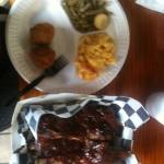 Mamma Brown's BBQ - Plate with Ribs