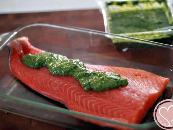 pesto salmon, feta cheese, salmon, pesto, food traditions, food culture, family legacy, emeals, clean eating