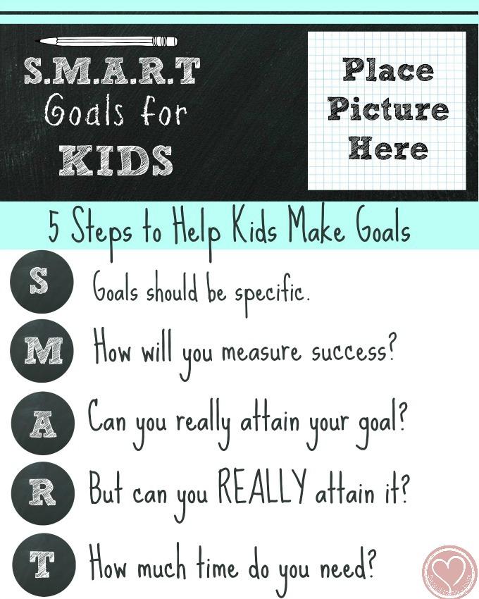 New Years Goal Setting for Kids the SMART Way - De Su Mama