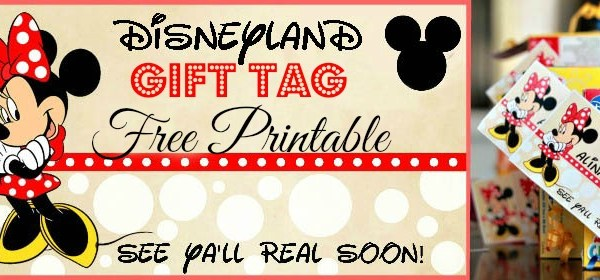 disneyland birthday, disneyland printable, first trip to disneyland, disney gift tags, disney crafts