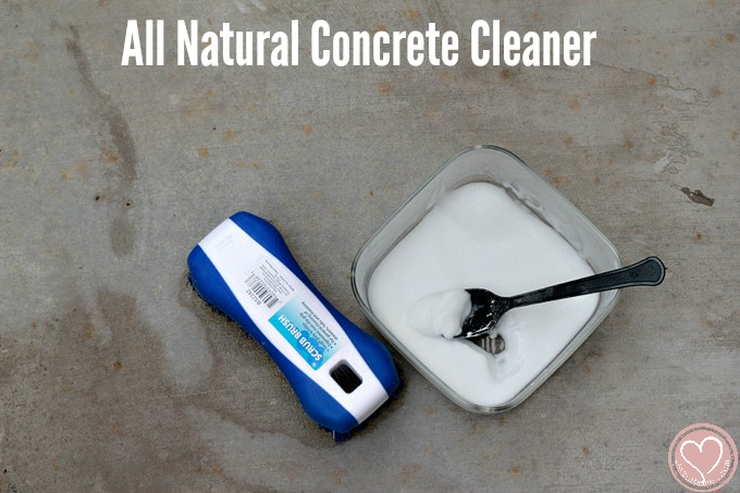 all natural diy concrete cleaner sprucing up our patio