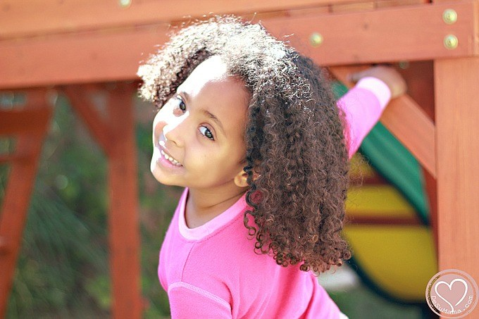 Biracial Baby Girl Curly Hair Because I wear my hair down