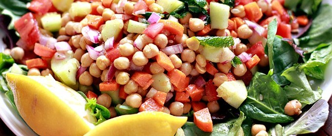 Indian Garbanzo Bean Summer Salad Recipe