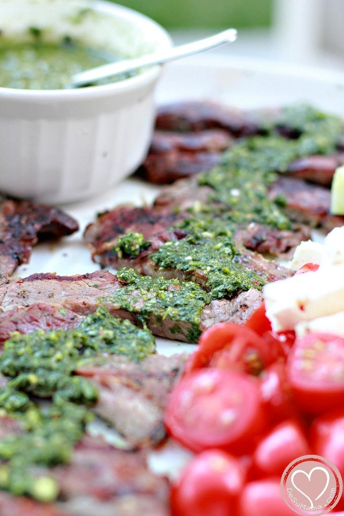 Chimichurri Recipe Sauce on Steak
