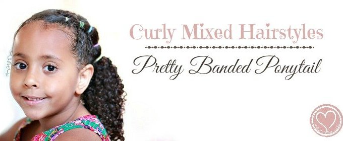 Pretty Side Banded Ponytail: Curly Mixed Hairstyles