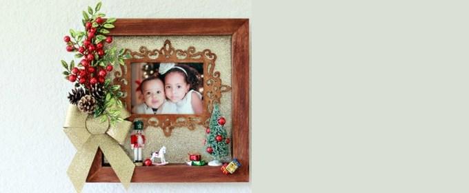 Siblings First Christmas Photo Memory Shadowbox Craft