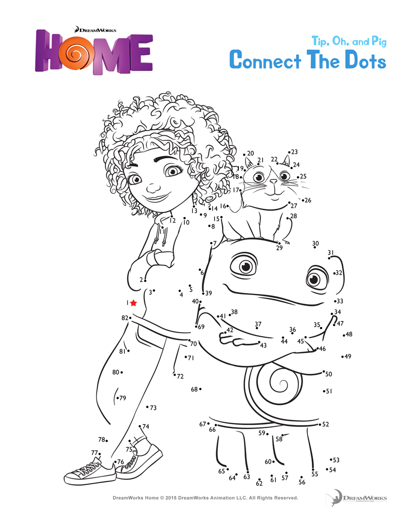 DreamWorks HOME Printables And Coloring Pages