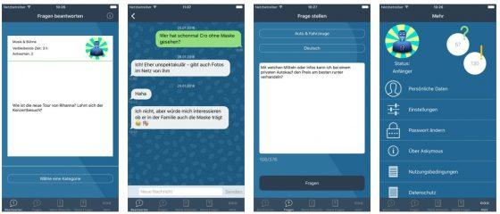 Die Frage-Antwort App Askymous präsentiert sich in einem schnörkellosen Design.
