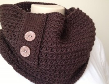 Knitting Pattern Cowl Chocolate Cowl