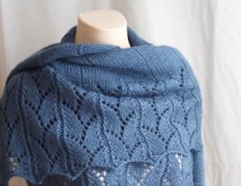 Knitting Pattern Shawl Blue Jeans Wrap