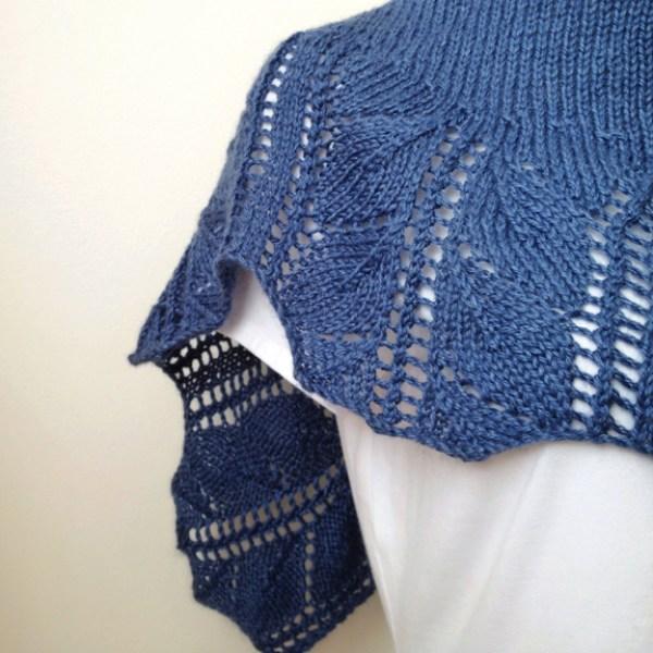 Knittting Pattern Shawl - Leaves Shaw.