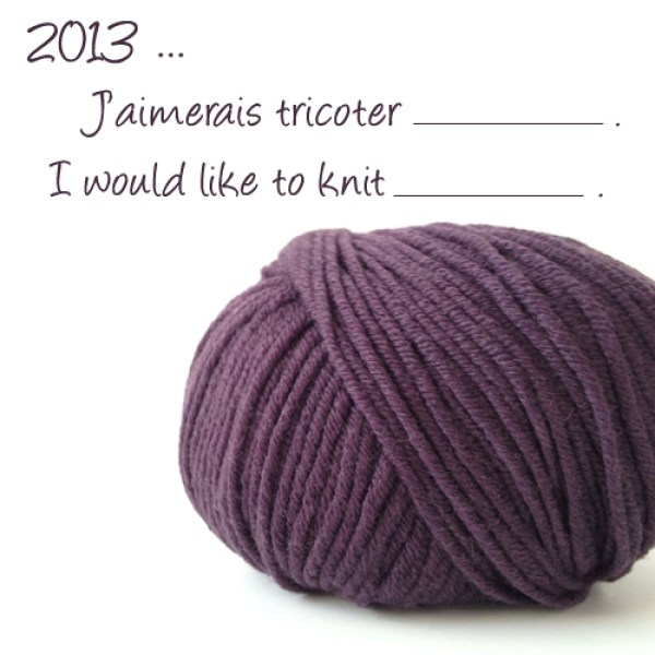Resolution for knitting (or crocheting)
