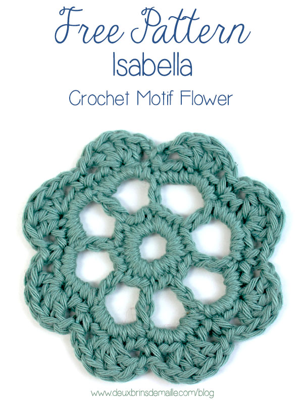 Crochet Flower Pattern Motif : How to Crochet this beautiful Flower Motif for Free