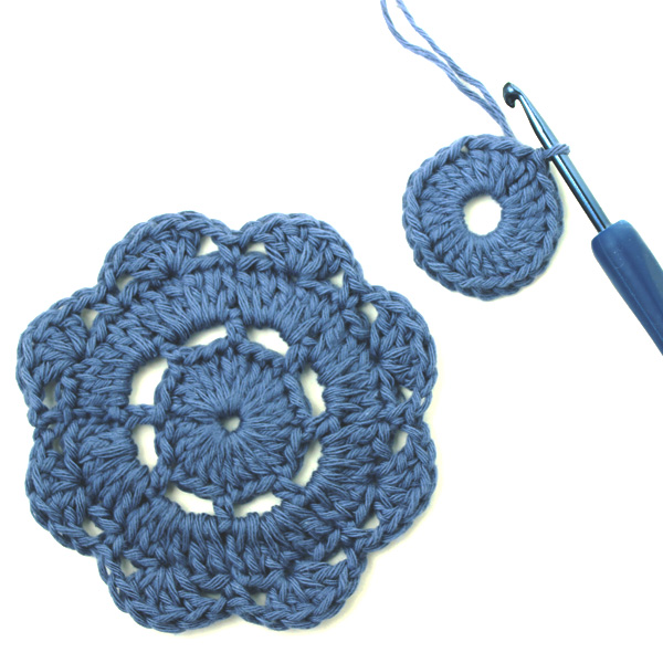 How to Crochet the Abby Flower Motif