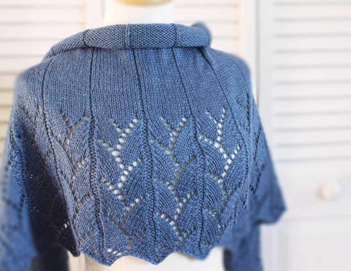 Blue Jean Wrap Knitting Pattern