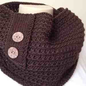 Knitting Pattern Chocolate Cowl | Deux Brins de Maille