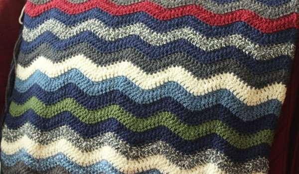 The Ripple Crochet Blanket In Progress