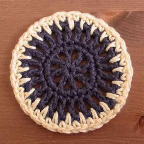 Free Crochet Motif Pattern Sun Spikes 2