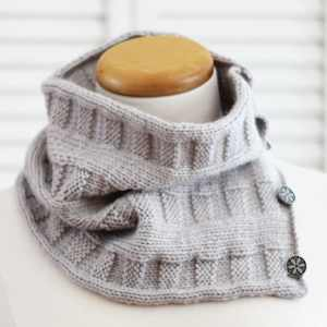 Knitting Pattern Cowl, Woven Cowl