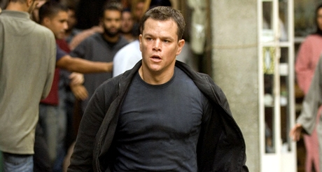 Matt Damon action in The Bourne Ultimatum