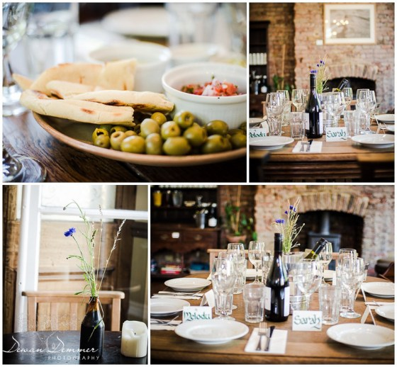 london Venue Photography of wedding table decor at Stoke Newington Venue