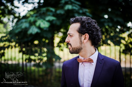 London Wedding Photography of the Groom in Stoke Newington