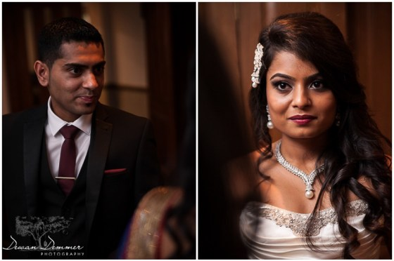 The wedding couple at Woolston Manor