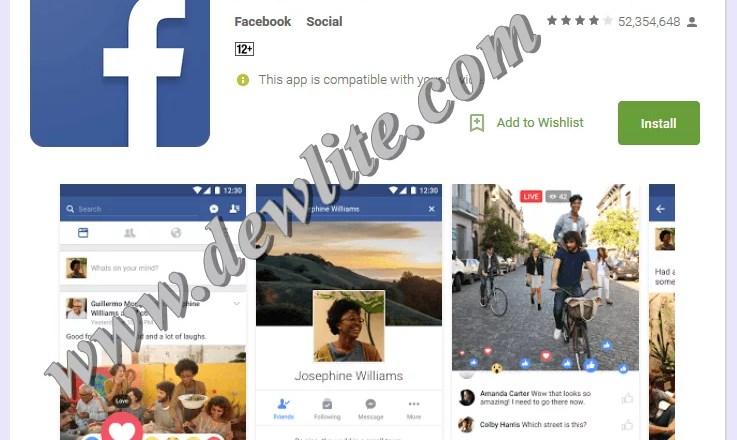 Download Facebook app