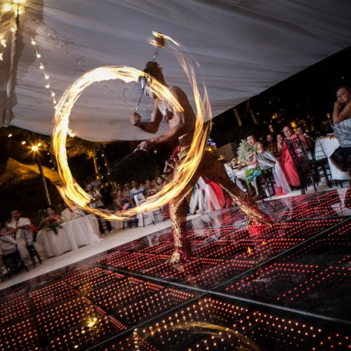 Wedding cancun-Planners-fire shows for events-fire shows company-35