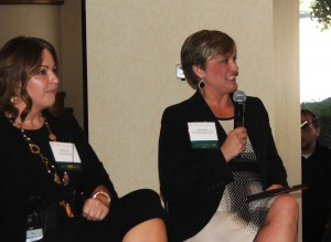 Kristin Jenkins (right) served as the panel moderator.