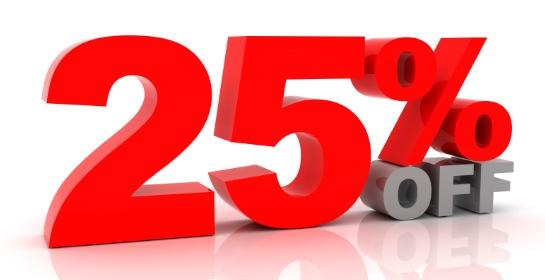 25%-kortings-actie-weken bij DH17!