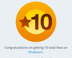 So I reached a '10 Likes' mark!