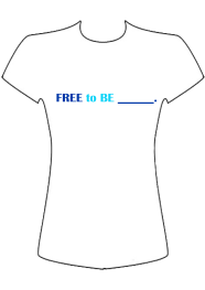 #FreeToBe T-shirt front