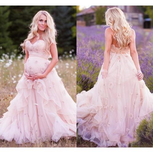 Medium Crop Of Pink Wedding Dress