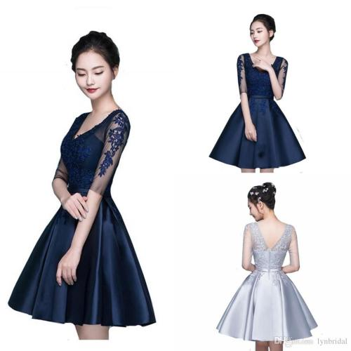 Medium Of Navy Blue Cocktail Dress